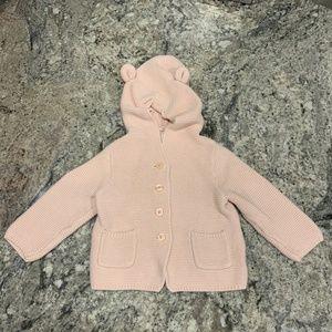 Gap Bear Ears Sweater Pink 12-18mo